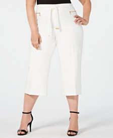 Calvin Klein Plus Size Cropped Wide-Leg Pants