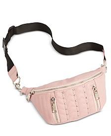 Steve Madden Studded Quilted Faux Leather Belt Bag
