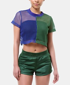 ARTISTIX Brooklyn Colorblocked Mesh Crop Top