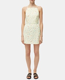 French Connection Whisper Light Camass Floral-Print Dress