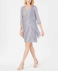R & M Richards Embellished Lace Sheath Dress & Jacket