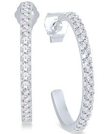 Diamond Hoop Earrings (1/2 ct. t.w.) in 14k White Gold