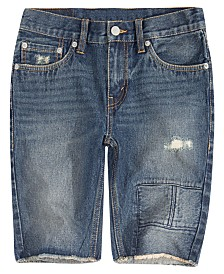 Levi's® Big Boys 511 Distressed Slim Denim Shorts