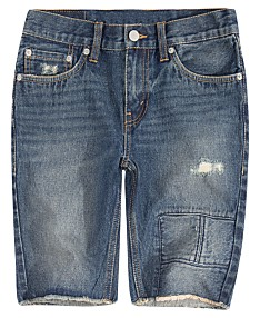 6c06d6ac537f Levi's® Big Boys 511 Distressed Slim Denim Shorts