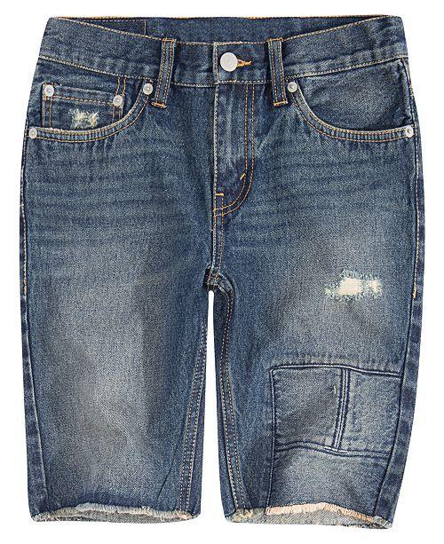 03a90e037 Levi's Big Boys 511 Distressed Slim Denim Shorts & Reviews - Shorts ...