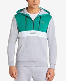 Lacoste Men's Colorblocked Half-Zip Fleece Hoodie