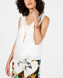 Thalia Sodi Sleeveless Necklace Top, Created for Macy's