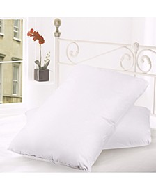 Down and Feather Blend 100% Cotton Cover Premium Pillow 2-Packs
