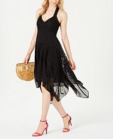 Lace Handkerchief-Hem Dress