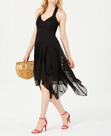 Taylor Lace Handkerchief-Hem Dress