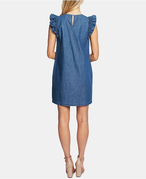 femmes coton coton robes a evasees et en Cece Authentic Robe en pour manches 8mnvN0w