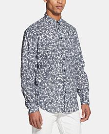 DKNY Men's Leaf-Print Shirt