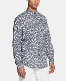 DKNY Men's Leaf-Print Shirt