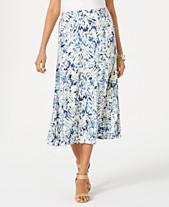 e5c4159390 JM Collection Printed Jacquard Midi Skirt, Created for Macys