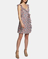 cb036e0d29f1 STATE Ruffled Floral-Print Mini Dress