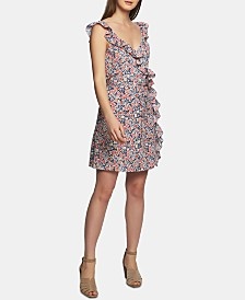 1.STATE Ruffled Floral-Print Mini Dress