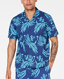 Men's Tropical Seersucker Camp Shirt, Created for Macy's
