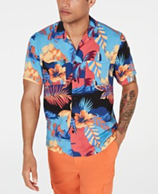 American Rag Men's Tropical Dual Pocket Shirt, Created for Macy's