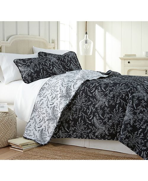 Southshore Fine Linens Winter Brush Lightweight Reversible Quilt and Sham Set, Full/Queen