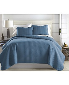 Southshore Fine Linens Oversized Solid 2-Pc. Quilt and Sham Set, Twin/Twin XL