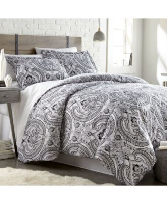 Pure Melody Classic Paisley Duvet Cover and Sham Set