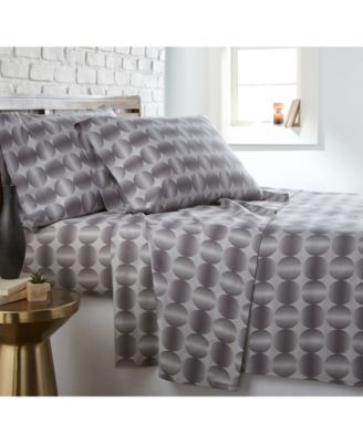 Modern Sphere Printed 4 Piece Sheet Set, California King