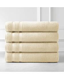 Southshore Fine Linens Premium Quality Classic Solid Colored 4 Piece Bath Towels, Towel Set