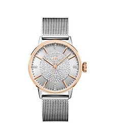 JBW Women's Belle Diamond (1/8 ct.t.w.) Stainless Steel Watch