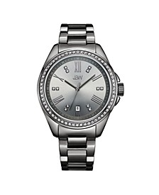 Women's Capri Diamond (1/8 ct.t.w.) Gun Metal-Plated Stainless Steel Watch