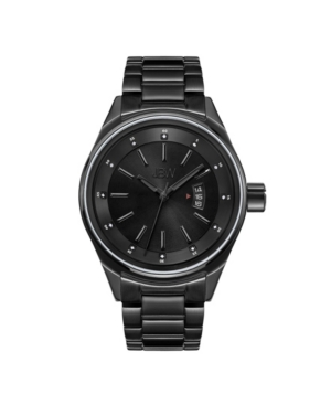Men's Rook Diamond (1/8 ct.t.w.) Black Ion-Plated Stainless Steel Watch