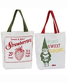 Design Import Strawberry Garden Totes
