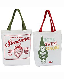 Design Import Strawberry Garden Totes