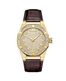 Men's Apollo Diamond (1/10 ct.t.w.) 18k Gold Plated Stainless Steel Watch