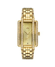 Women's Mink Diamond (1/8 ct.t.w.) 18k Gold Plated Stainless Steel Watch