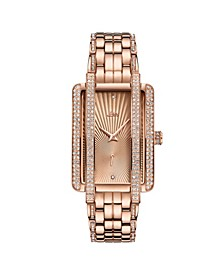 Women's Mink Diamond (1/8 ct.t.w.) 18K Rose Gold Plated Stainless Steel Watch