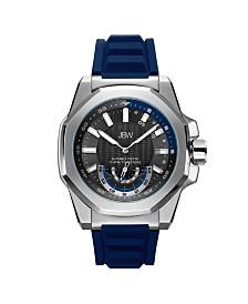 JBW Men's Delmare Diamond (1/20 ct.t.w.) Stainless Steel Rubber Strap Watch