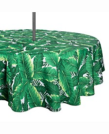 "Banana Leaf Outdoor Table cloth with Zipper 52"" Round"
