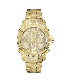 Men's Jet Setter Diamond (2 ct.t.w.) 18k Gold Plated Stainless Steel Watch
