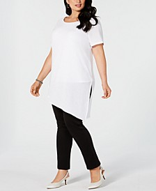 Plus Size Asymmetric Tunic Top, Created for Macy's