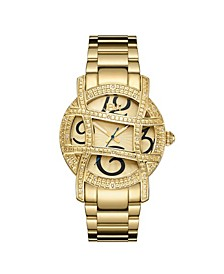 Women's Olympia Diamond (1/5 ct.t.w.) 18k Gold Plated Stainless Steel Watch
