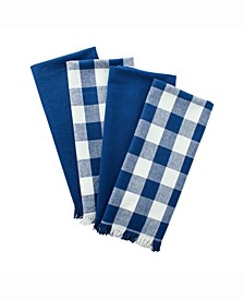 Asset Navy Heavyweight Fringed Dishtowel Set of 4
