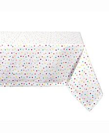 "Multi Polka Dots Print Table cloth 52"" X 52"""