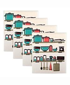 Swedish Printed 3-Pc. Dishcloth Set