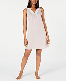 Super Soft Knit Lace-Trim Chemise Nightgown, Created for Macy's