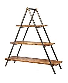 3 Teir Wood Server Metal Stand