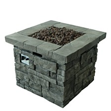 Angeles Outdoor Square Fire Pit, Quick Ship