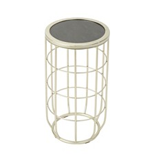 Lattice Outdoor Side Table, Quick Ship