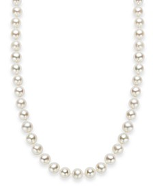 "18"" Cultured Freshwater Pearl Strand Necklace (7-8mm) in Sterling Silver"