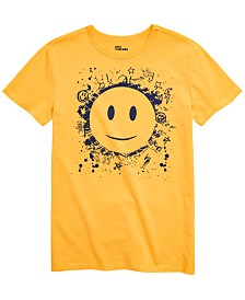 Epic Threads Big Boys Smiley Face T-Shirt, Created for Macy's