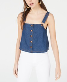OAT Cotton Denim Tank Top